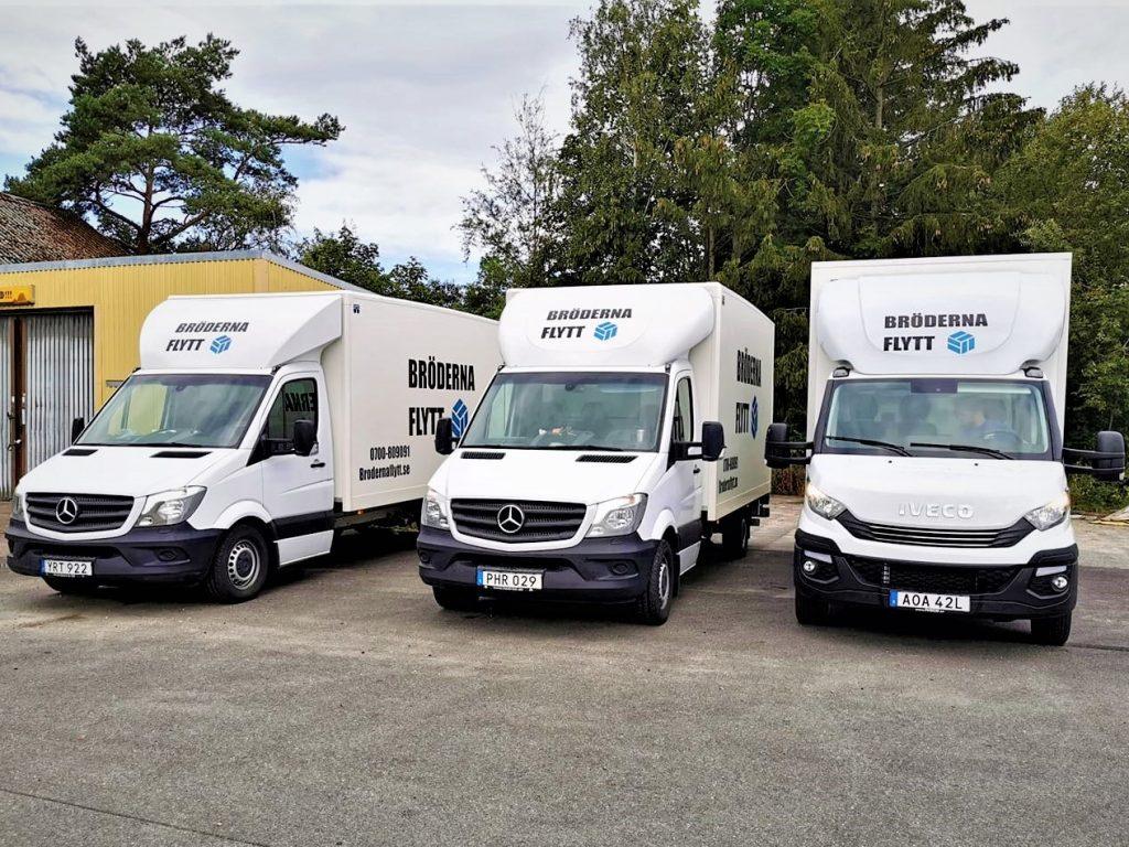 Flyttbilar som hjälper till med flytt i Varberg